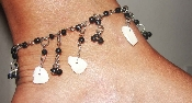 belly dancing wave anklet