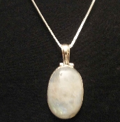 Sterling Silver Amber pendant and chain