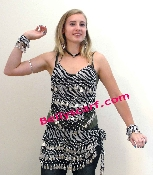 animal leopard print belly dance hip scarf for retail or wholesale or party