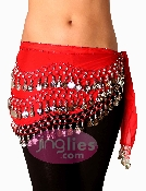 beautiful red belly dancing scarf
