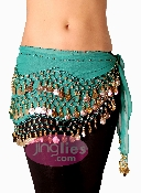 Teal colored dancing scarf