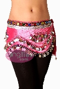 belly dance hip scarf with velvet for belly dancing and zumba