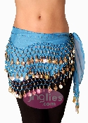 Dark Aqua colored dancing hip scarf