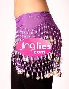 coin style eggplant colored dancing hip scarf