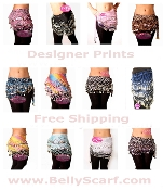 wholesale zumba zumbawear coin hip scarves