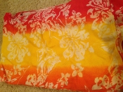 Sarong in red/yellow/orange