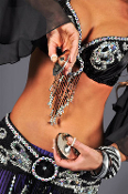 Silver belly dance cymbals